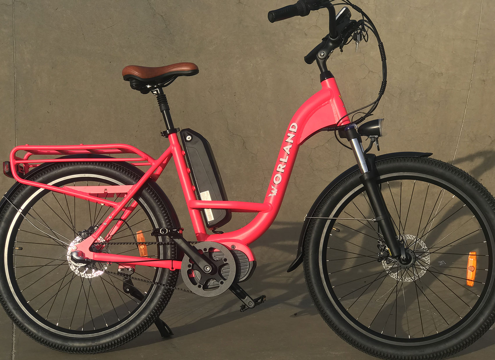 The Rosetown by Worland Electric Bicycles is a step through ebike